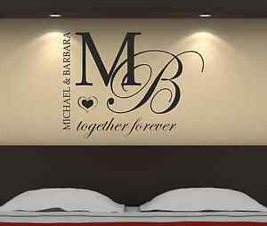 Personalised-Together-Forever-Bedroom-Wall-Art-Sticker-Decal-Graphic-b3