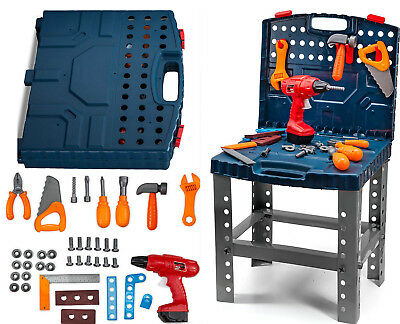 Toddler Toy Realistic Tools Kit Workbench Kids Sets Electric Drill Learning - Kid Tools