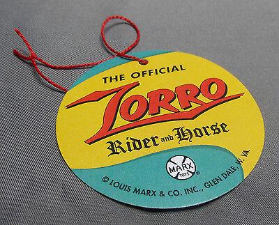 1950's Custom Hartland Style Disney Marx Rider ZORRO Reproduction Tag](Zorro Custome)