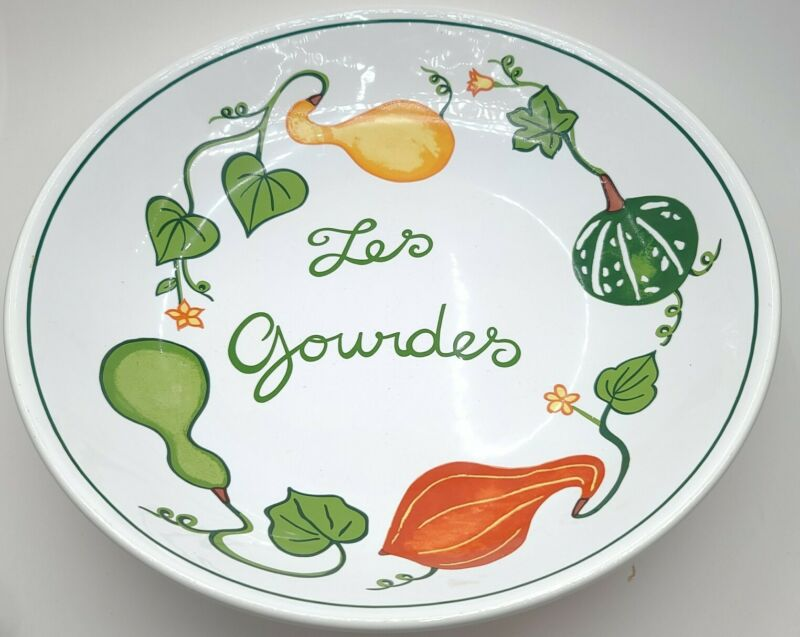 Williams Sonoma Les Gourds Pasta Large Serving Bowl Multicolored Gourd WS036
