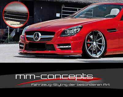 CUP Spoilerlippe SCHWARZ für Mercedes SLK R172 55 AMG Line Frontspoiler Schwert
