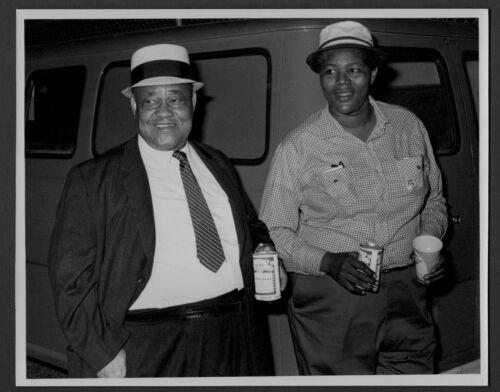 BIG MAMA THORNTON & ROOSEVELT SYKES blues musicians ORIG PHOTO by TOM COPI