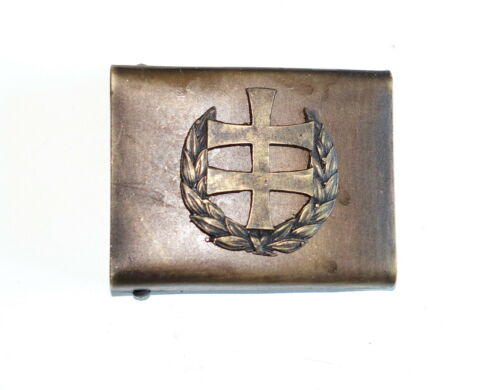 SLOVAK ARMY WW2 ERA HLINKA REPRO EQUIPMENT BELT BUCKLE AGED