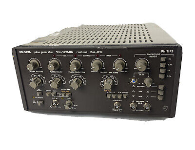 Philips Fluke Pm5786 1hz To 125mhz Rise 2ns-0.1s Pulse Generator
