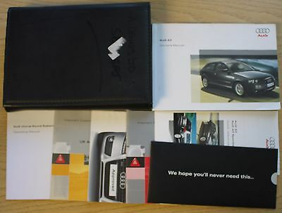 AUDI A3 SPORTBACK HANDBOOK OWNERS MANUAL WALLET 2005-2008 PACK 11372 !