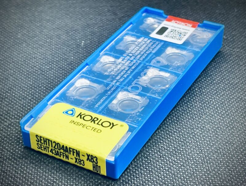 KORLOY SEHT 1204 AFFN-X83 H01 Carbide Inserts  / SEHT 43 AFFN-X83 H01 10 pcs