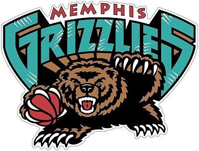 Memphis Grizzlies NBA Color Die Cut Vinyl Decal Sticker - Choose Size - Grizzlies Colors