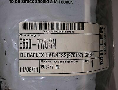 Miller Universal Duraflex Full Body Safety Harness Back Belt Brace E650 - 77ugn