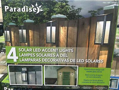 Paradise 8 Pack Solar Powered LED Accent Deck Dock Garden Li