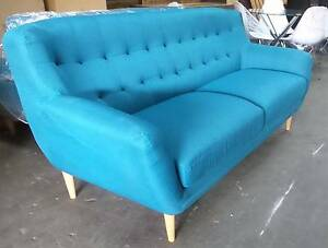 3 + 2 SEATER STUDDED BACK IN VIBRANT BLUE FABRIC Thebarton West Torrens Area Preview