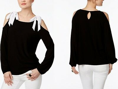 INC International Concepts Bow Cold-Shoulder Top, Created for Macy