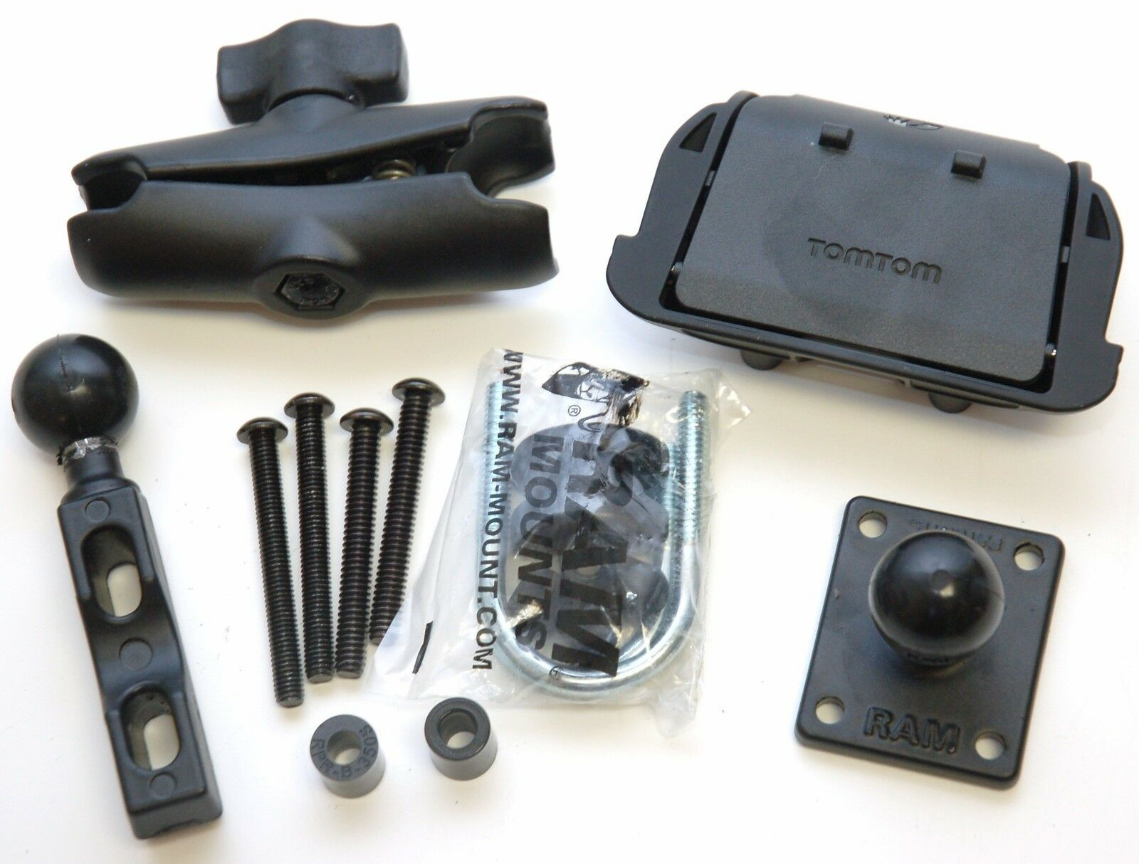 tomtom rider 2 motorcycle gps ram mount cradle dock handlebar 2nd kit ebay. Black Bedroom Furniture Sets. Home Design Ideas