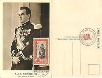 1652 - Monaco - Cartolina Maximum Avvento Al Trono Principe Ranieri, 11/04/1950 -  - ebay.it