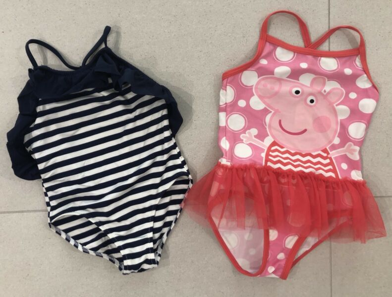 a0cabc02c4d9a Size 3 ZARA GIRLS and TARGET PEPPA PIG swimming togs swimmers