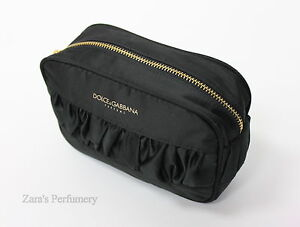 DOLCE & GABBANA PARFUMS BLACK MAKE UP / TOILETRY BAG.