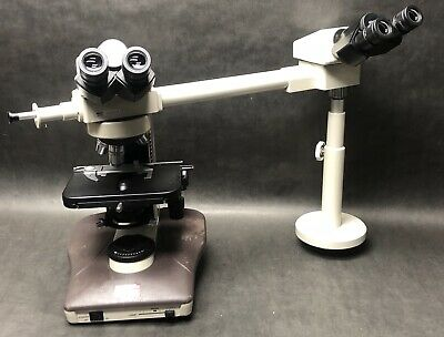 Nikon Labophot-2 Microscope With 3 Objectives W Teaching Head. Great Condition