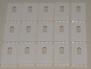 LEGO LOT OF 15 WHITE 1 X 4 X 5 CASTLE WALL PANELS WITH WINDOW PIECES