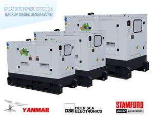 Brand New YANMAR Diesel Generator 16kVA single phase 240V Raceview Ipswich City Preview