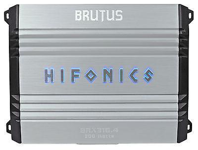 Hifonics Brutus Brx316 4 320W Rms 4 Channel Car Audio Amplifier Class A B Amp