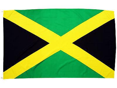 Set Fahne Jamaika 90x150 cm und Freundschafts Pin Deutschland-Jamaica Anstecker