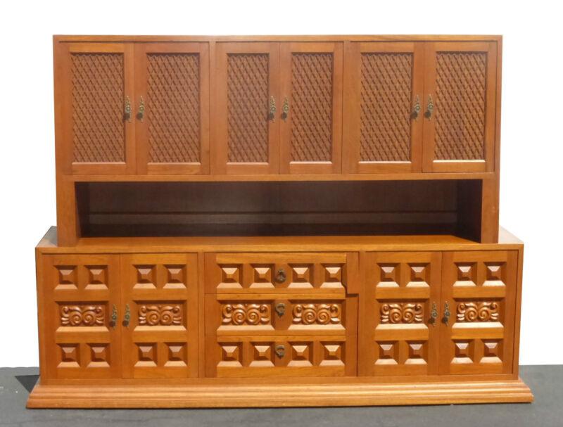 UNIQUE Vintage Mid Century Modern Teak & Wood Credenza Dry Bar Sideboard