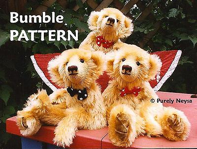 "Mohair  Plush  ""Bumble""  Teddy Bear PATTERN by Neysa A. Phillippi  Purely Neysa"