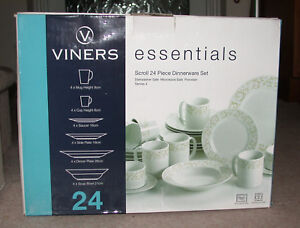 VINERS SCROLL 24 PIECE DINNER SERVICE / SET NEW & BOXED
