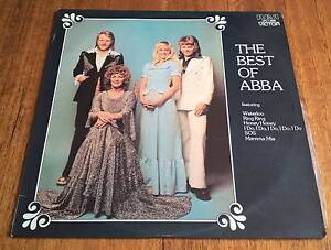 THE BEST OF ABBA, LP Record 1975 Golden Grove Tea Tree Gully Area Preview