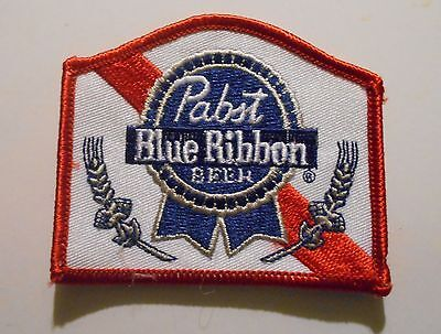 Pabst Blue Ribbon Beer Embroidered Patch 3 inches