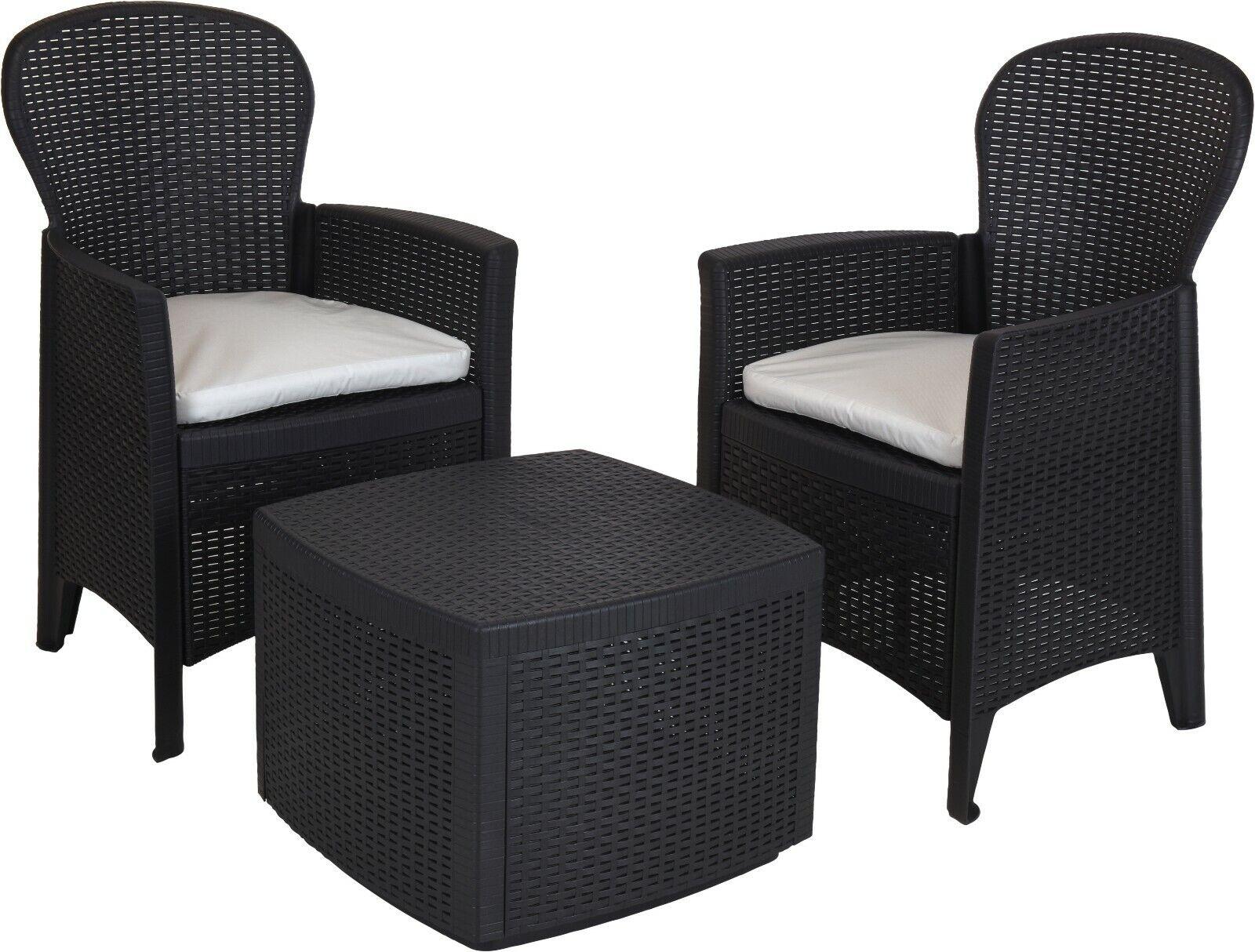 3 Piece Outdoor Patio Chair Table Lounge Garden Balcony Set Furniture