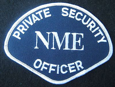 PRIVATE SECURITY OFFICER EMBROIDERED SEW ON PATCH NME ADVERTISING  UNIFORM