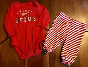Baby's 1st Christmas Outfit (Size Newborn)