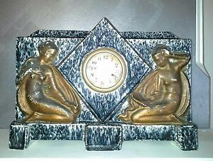 Brass Clock With 2 Ladies East Victoria Park Victoria Park Area Preview