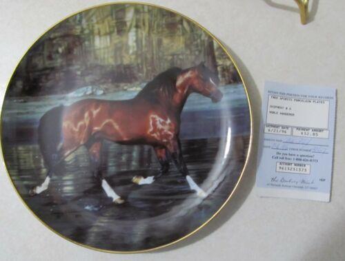 Noble Wanderer Arabian Horse Plate by Lesley Harrison From The Danbury Mint