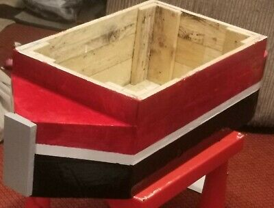 Handmade wooden planters, bird tables and more