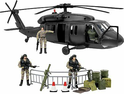 Click N' Play Military Black Hawk Attack Combat Helicopter
