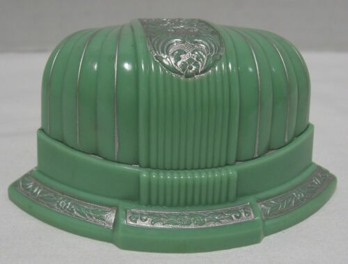 Vintage Art Deco Green Ring Box - Hagerstown, MD. Jeweler