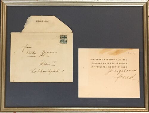 1936 Sigmund Freud Autographed Letter to Daughter of Freud