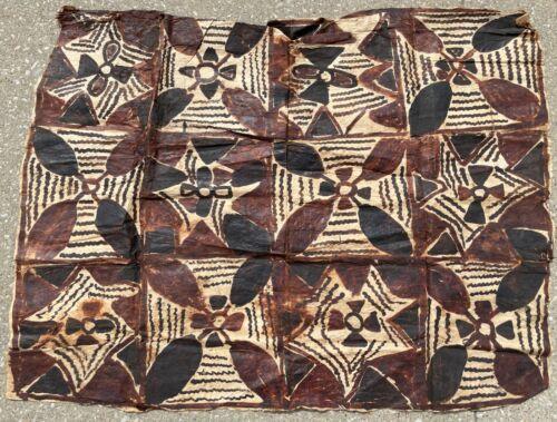 "Vintage 48"" X 36"" Hawaiian Tapa African Tribal Art Mud Cloth Art Painting Art"