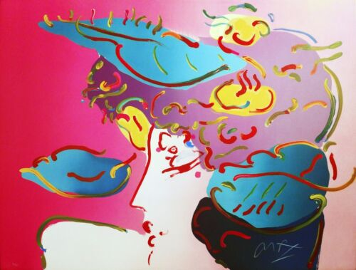 "Peter Max ""flower Spectrum"" 1990 