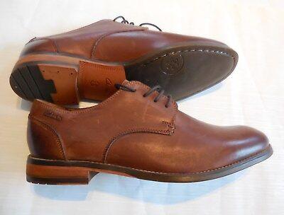 neu CLARKS Herren Halbschuhe Gr.44 10,5 Leder braun vintage Business Schuhe