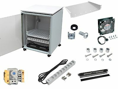 """19"""" Netzwerkschrank 15HE 600x800 Serverschrank+Zubehör ZPAS"""