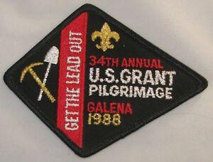 U.S. Grant Pilgrimage 1988 Pocket Patch  BSA
