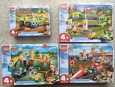 4 LEGO Toy Story Carnival Coaster, Buzz & Bo Peep, Duke Caboom, woody & RC