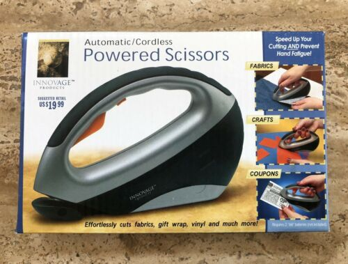 NEW Automatic Cordless Powered Scissors Power Electric Box Crafts