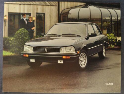 1985-1986 Peugeot 505STi Sedan Sales Brochure Sheet Excellent Original