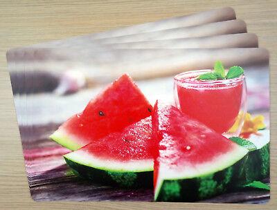 Tischsets Melonen-Cocktail, PP-Foto,Abwaschbar,Abwischbar,Kunststoff 🍴🍷🍉
