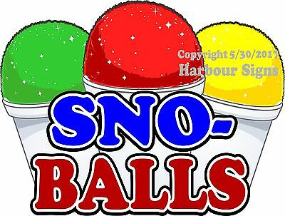 Sno-balls Decal Choose Your Size Snow Cones Concession Food Truck Sticker