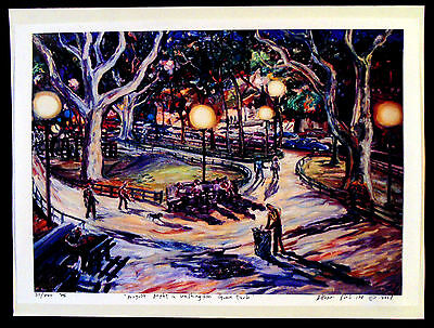 2ORIGINAL PRINTS Arthur Robins PARK NYC Cityscape New York Art Washungton Square