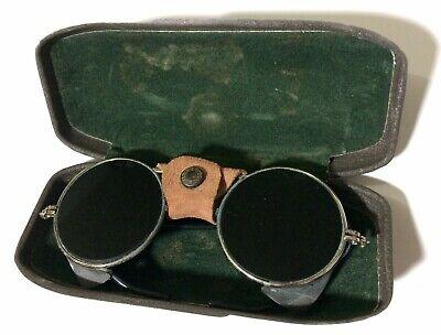 Welding Vintage Safety Steampunk Glasses Gl H5 On Lenses Metal Case Defects